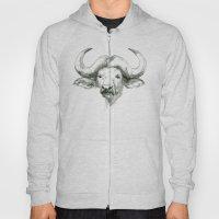 African Buffalo Sketch S… Hoody