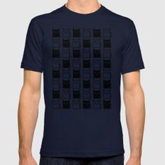 A Chess of Cats Mens Fitted Tee Navy SMALL