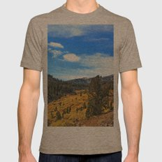 The Top of Tahoe Mens Fitted Tee Tri-Coffee SMALL