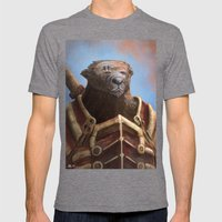 Bear Warrior Mens Fitted Tee Tri-Grey SMALL