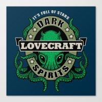 Lovecraft Dark Spirits Canvas Print