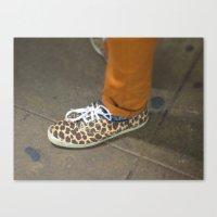 Leopard Shoe Canvas Print