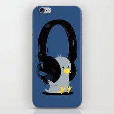 Le poussin mélomane (blue) iPhone & iPod Skin