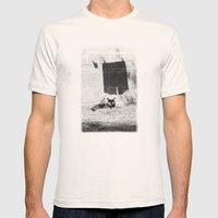 The cat and the pants Mens Fitted Tee Natural SMALL