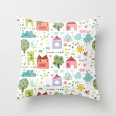 Little Town Throw Pillow