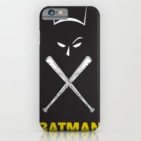 iPhone & iPod Case featuring bat man by Hector Pahaut
