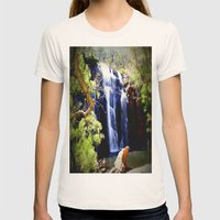 McKenzie Falls Womens Fitted Tee Natural SMALL