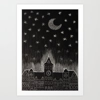 black night Art Print