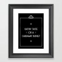 Gatsby Style Framed Art Print