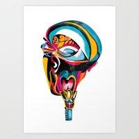 Anatomy Gautier v4 Art Print