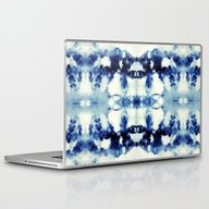 Laptop & iPad Skin featuring Tie Dye Blues by Nina May Designs