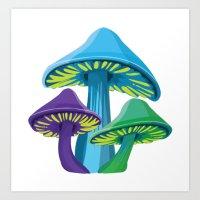 Alice's Shrooms Art Print