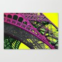 purple paris Canvas Print