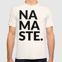 namaste Mens Fitted Tee Natural SMALL