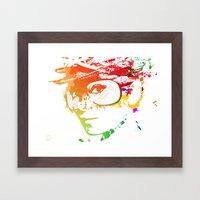 Audrey Splash Framed Art Print