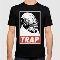 Obey Ackbar's TRAP Mens Fitted Tee Black SMALL