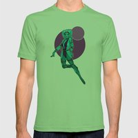 Star Wars Jabba slave pinup Mens Fitted Tee Grass SMALL