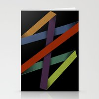 Folded Abstraction Stationery Cards
