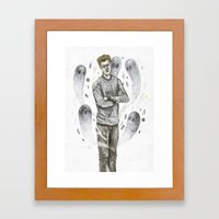 Heart Ghouls  Framed Art Print