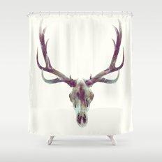 Elk Skull Shower Curtain