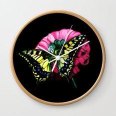 Watercolor Butterfly Wall Clock