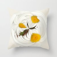 Pick Me Round - Daisy Throw Pillow