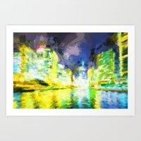 Down the River II Art Print
