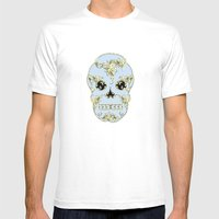 Rococo Skull Mens Fitted Tee White SMALL