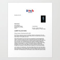 Ditch Projects Press Release (Page 1) Art Print