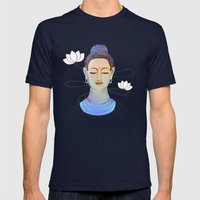 Buddha Mens Fitted Tee Navy SMALL
