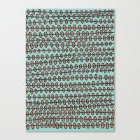 Coral Pebbles Canvas Print