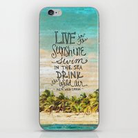 Live In The Sunshine - Photo Inspiration iPhone & iPod Skin