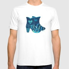 These boots are made for walking Mens Fitted Tee White SMALL