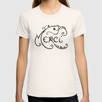 Merci Womens Fitted Tee Natural SMALL