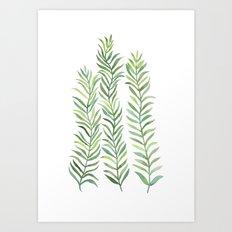 Green Branches Art Print