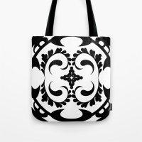 Black white tribal pattern Tote Bag