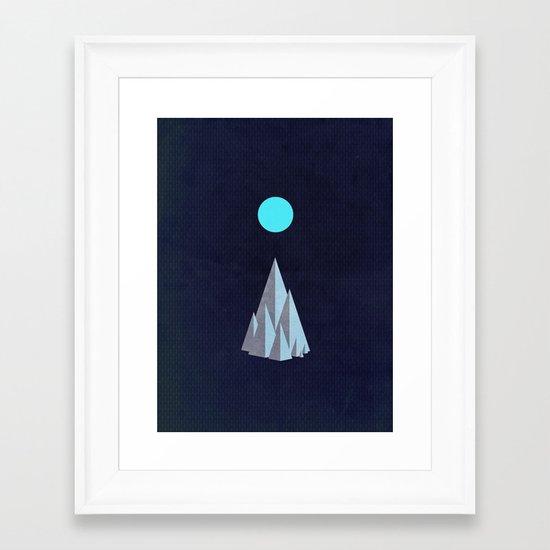 Minimal Mountains Framed Art Print