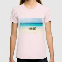 enjoy the day at the sea Womens Fitted Tee Light Pink SMALL