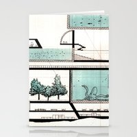Octopus Architecture Stationery Cards