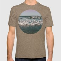 Ocean Crash Mens Fitted Tee Tri-Coffee SMALL