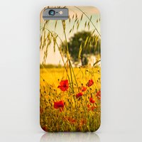 Poppies with tree in the distance iPhone 6 Slim Case