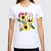 Love In Flowers Womens Fitted Tee Ash Grey SMALL