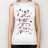 Pig Ate My Pizza Biker Tank