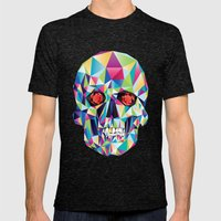 Geometric Candy Skull Mens Fitted Tee Tri-Black SMALL