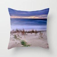Windy sunset. Sea dreams.... Throw Pillow