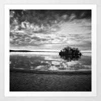 L'île du crépuscule Art Print