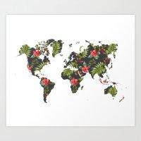 Tropical Map Art Print