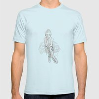 dream chaser Mens Fitted Tee Light Blue SMALL