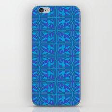 Blue Green Layers iPhone & iPod Skin