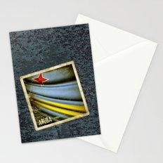 Grunge sticker of Aruba flag Stationery Cards